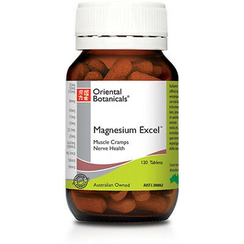 ORIENTAL BOTANICALS Magnesium Excel 120 Tablets