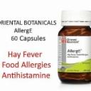 ORIENTAL BOTANICALS AllergE 60 Capsules ( Natural Allergy & Hayfever Relief )