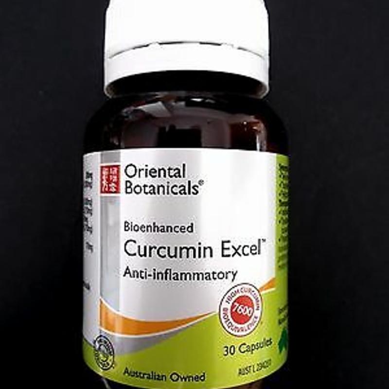 1 x 30 capsules ORIENTAL BOTANICALS Curcumin Excel Anti-inflammatory
