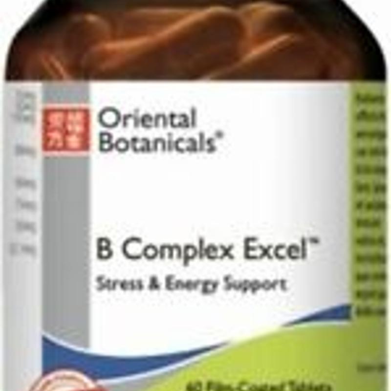 B Complex Excel 60 Tablets Oriental Botanicals