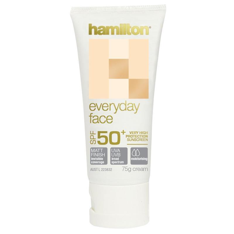 Hamilton SPF 50+ Everyday Face Cream 75g