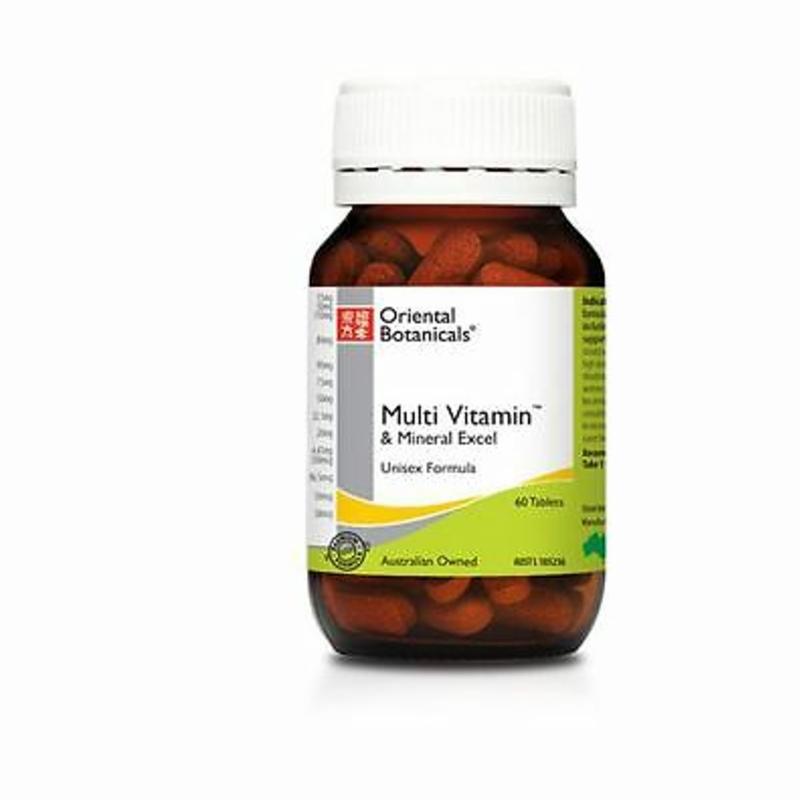 Oriental Botanicals Multi Vitamin & Mineral Excel 60 tablets ( Unisex Formula )