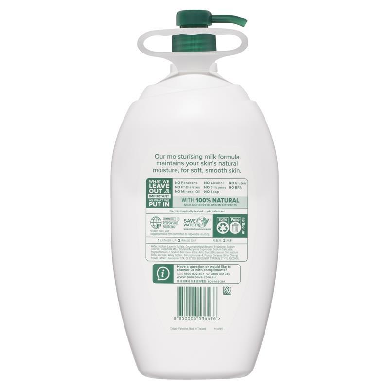 Palmolive Naturals Body Wash Milk & Cherry Blossom Shower Gel 2L
