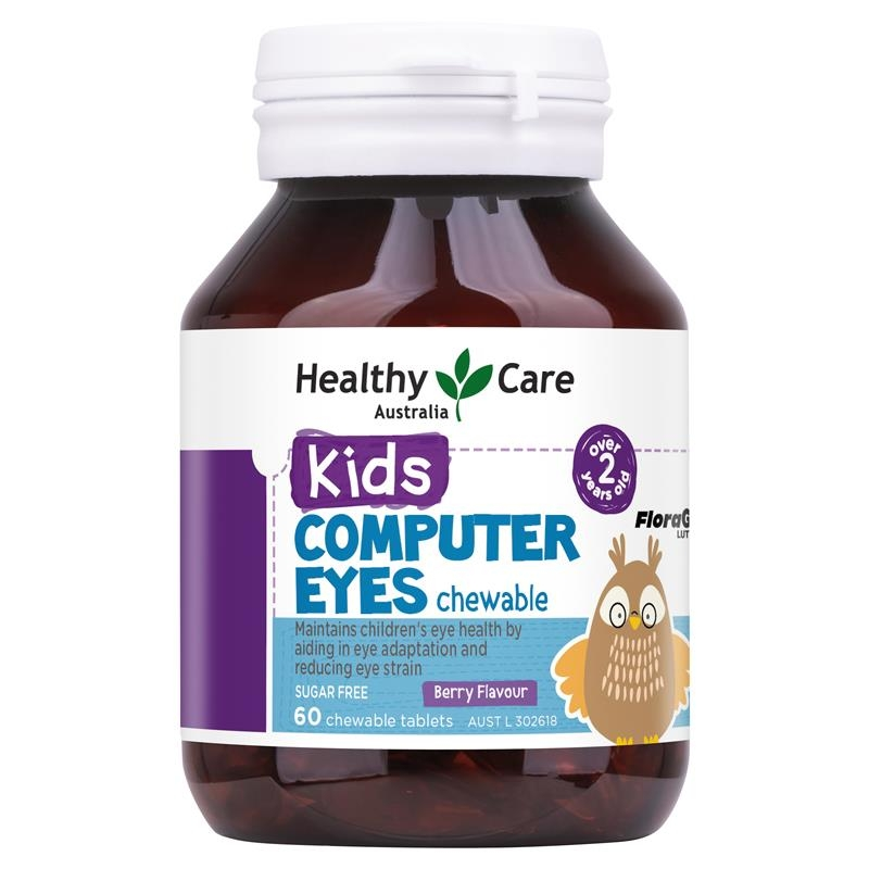 Healthy Care Kids Computer Eyes 60 Chewable Tablets