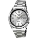 Seiko 5 Automatic Silver Dial Stainless Steel Men's Watch SNXS73