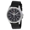 Seiko 5 Sport Automatic Black Canvas Men's Watch SNZG15