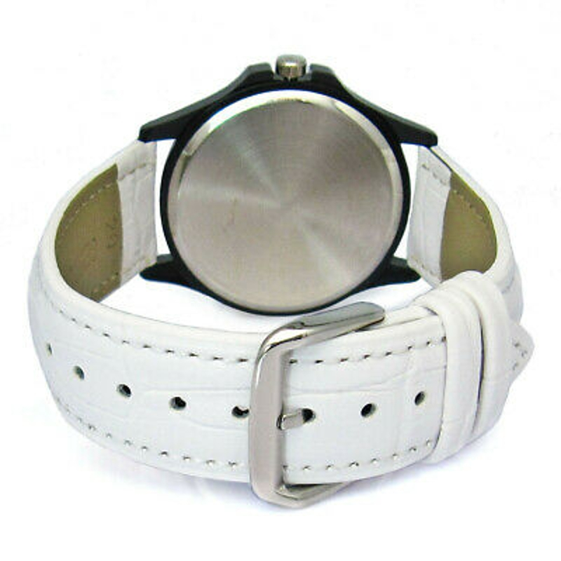 Melbourne Australia Flag Ladies Cubic Zirconia Leather Band Quartz Watch SG249