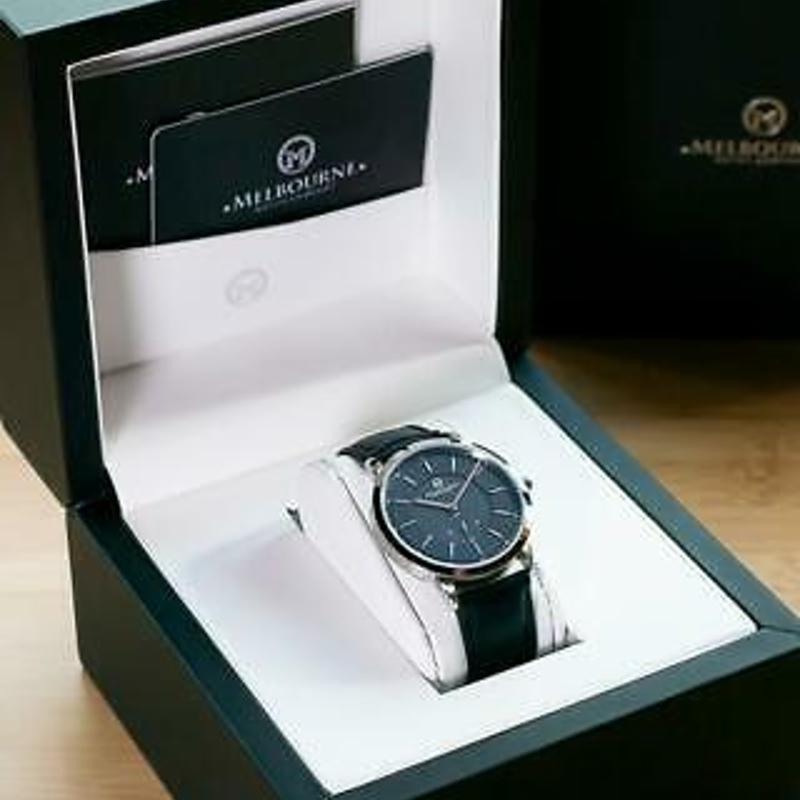 Melbourne Watch Company Mens Flinders Heritage Black Watch