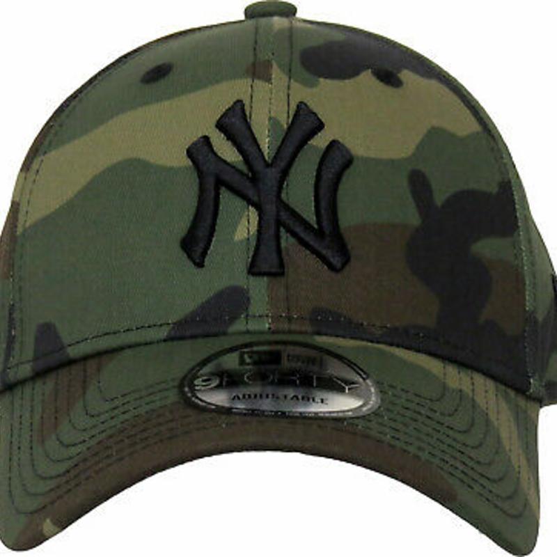 NY Yankees New Era 940 League Essential Camo Baseball Cap