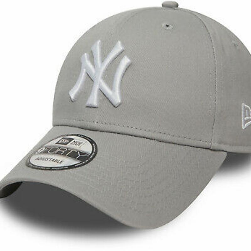NY Yankees New Era 9Forty League Basic Grey Baseball Cap