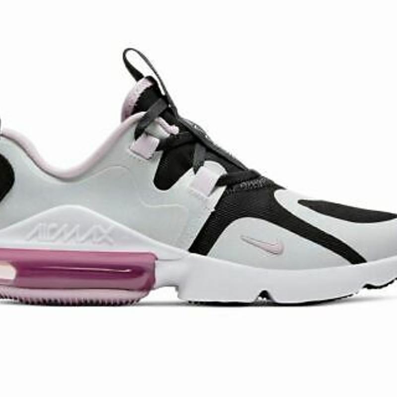 Sale Nike Air Max Infinity GS BQ5309 006 Trainers Grey Black Girls Shoes