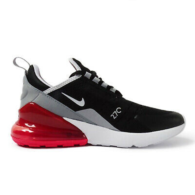 Nike Air Max 270 GS [943345-013] Kids Casual Shoes Black/White-Ember