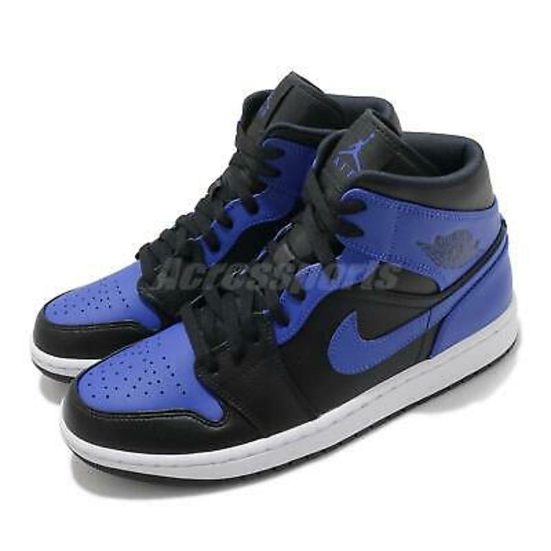 Nike Air Jordan 1 Mid SE Game Royal Blue Black White Men Shoes AJ1 554724-077