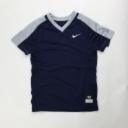 Nike Vapor Dri-Fit Softball Training Top Girl's Medium Navy Grey 836325