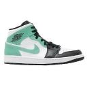 Nike Air Jordan 1 Mid Igloo Island Green White Black Men Casual Shoes 554724-132
