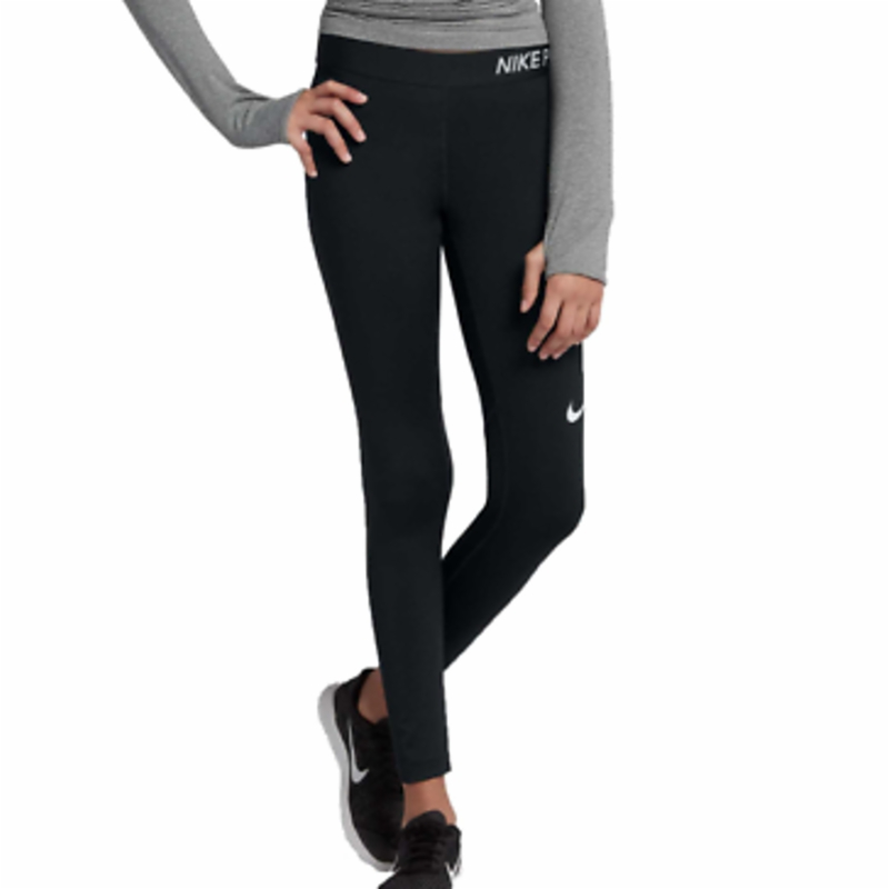 Nike Tights Big Girls XS Authentic Youth Dry Pro Cool Training Tight Fit Black