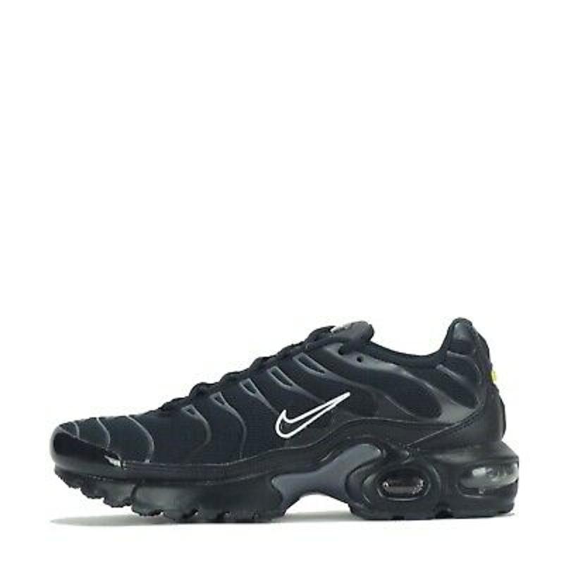 Nike Air Max Plus Tuned Junior Trainers Shoes Black UK 5.5