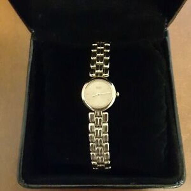 Genuine SEIKO Ladies Wristwatch Gold Stainless Steel Water Resist Battery BOXED