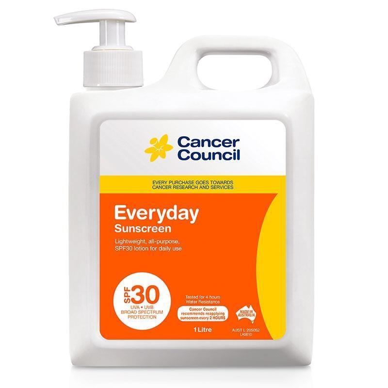 Kem chống nắng Cancer Council SPF 30 Everyday 1 Litre Pump