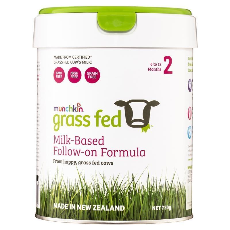 Munchkin Grass Fed 2 Milk-Based Follow On Formula 730g