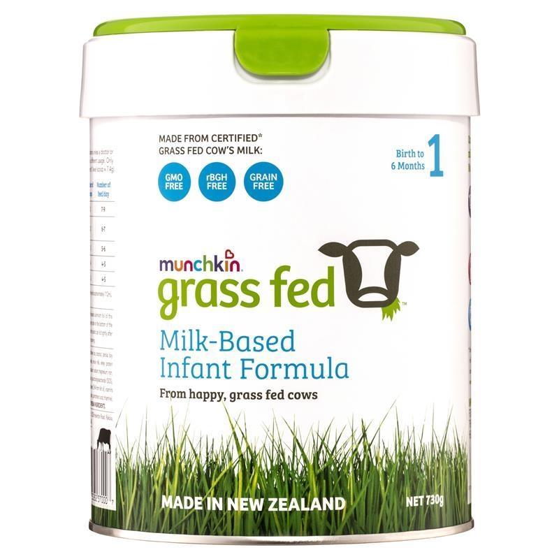 Sữa cho trẻ từ 0 - 6 tháng Munchkin Grass Fed 1 Milk-Based Infant Formula 730g ()