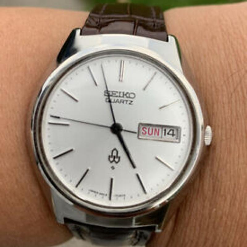 1973 Seiko Quartz Day Date 36mm Vintage Watch 3803-7010