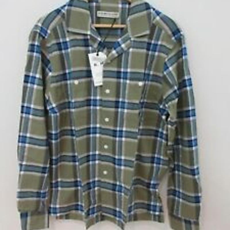 Áo sơ mi RM Williams Mens Camp Shirt Size M Long Sleeve Button Up Green Plaid New