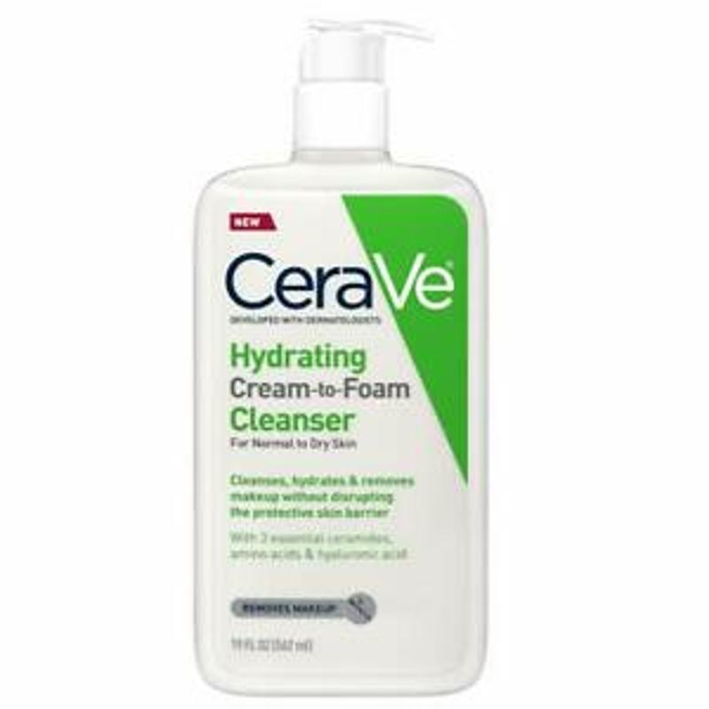 New CeraVe Hydrating cream to Foam Cleanser 562ml (Dermatologist Recommended)