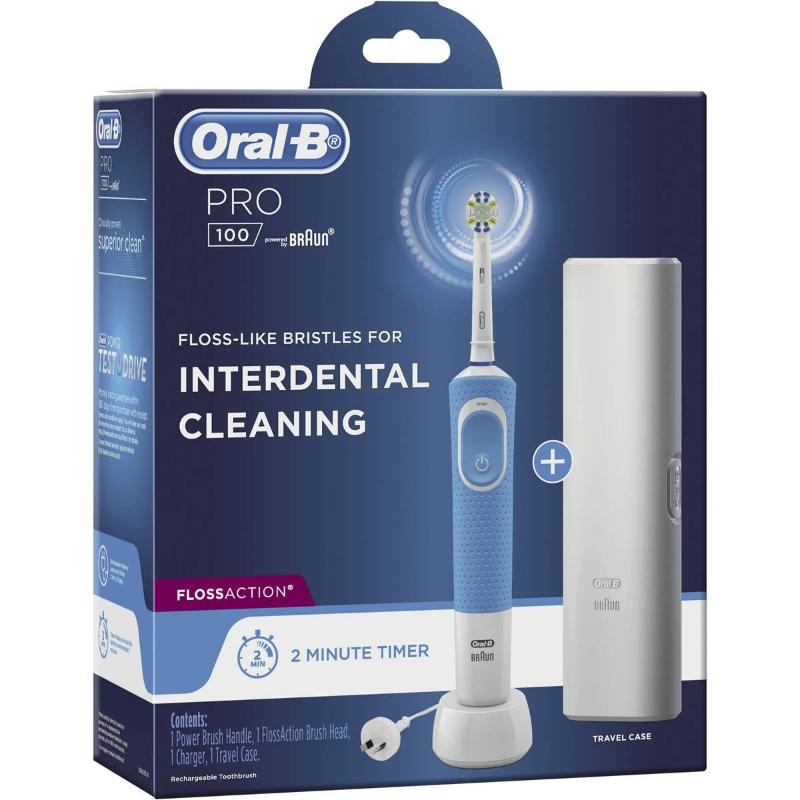 Bàn chải đánh răng điện Oral-b Pro 100 Floss Action Electric Toothbrush each
