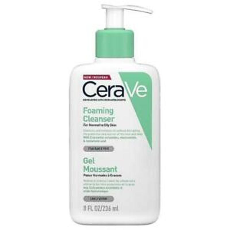 New CeraVe Foaming Cleanser 236ml (Dermatologist Recommended Normal/Oily Skin)