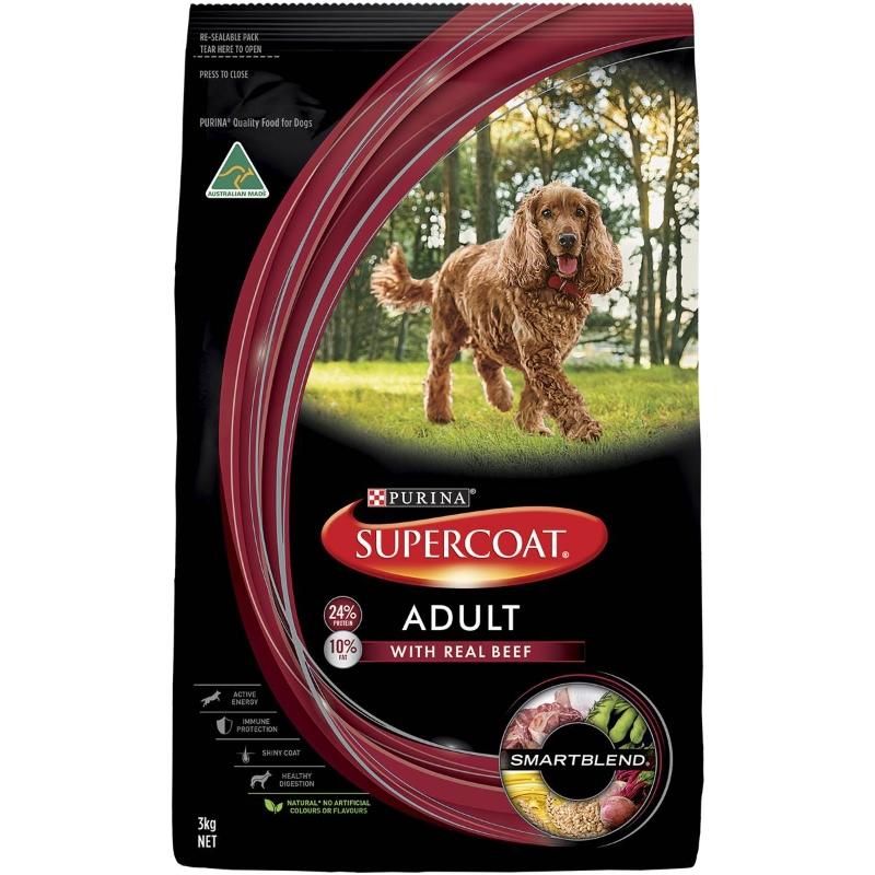 Thức ăn cho chó trưởng thành Supercoat Thịt bò 3kg