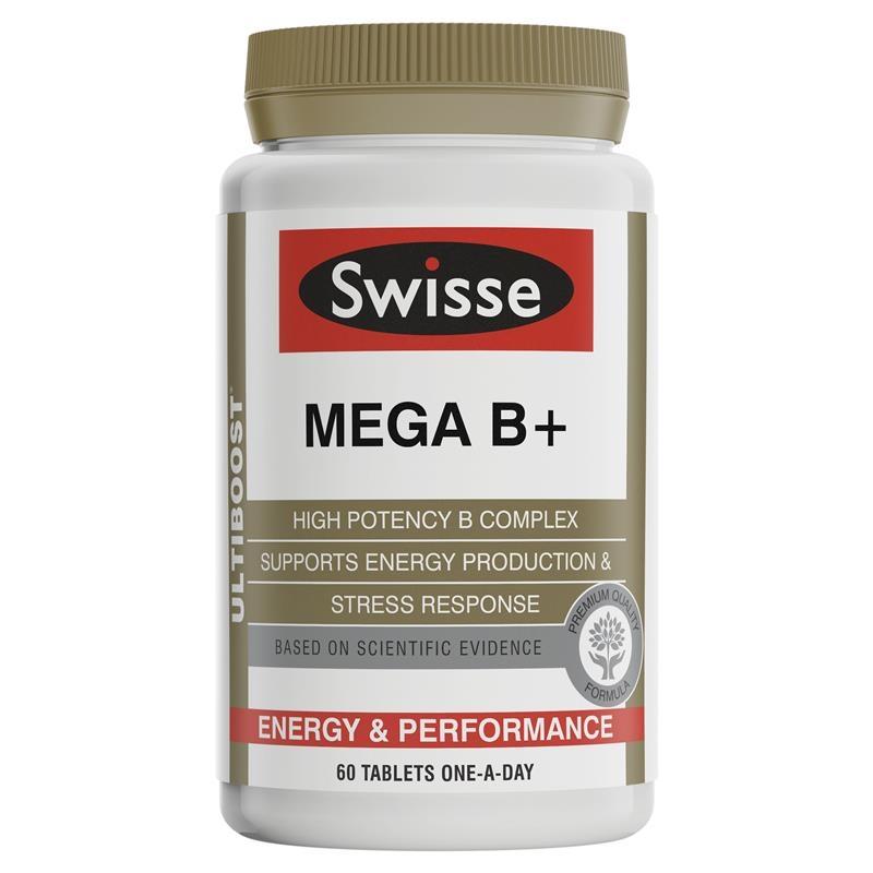 Swisse Ultiboost Mega B + 60 Tablets