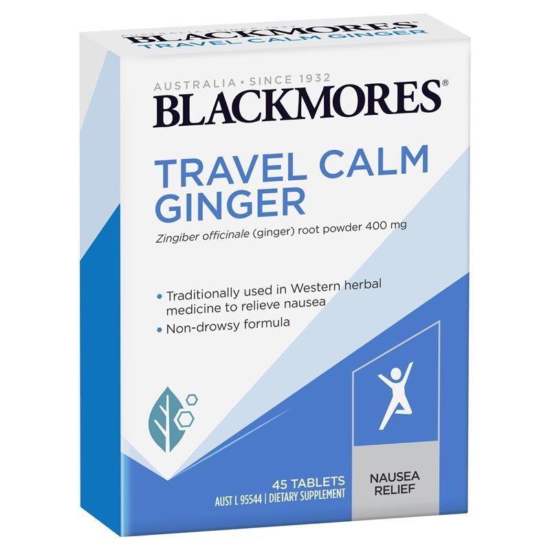 Blackmores Travel Calm Ginger 45 Tablets