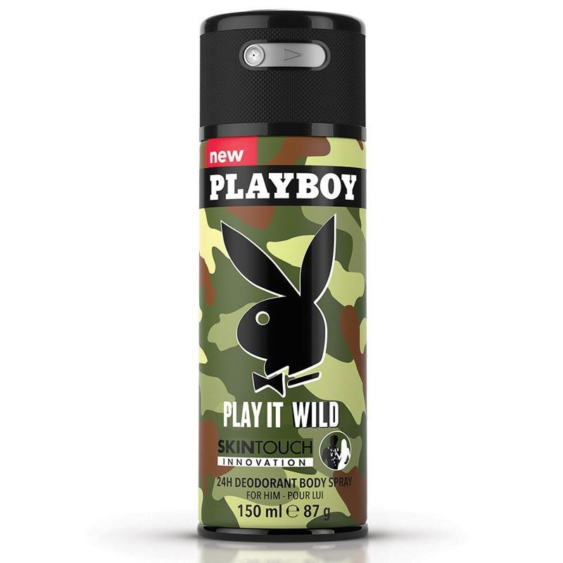 Xịt toàn thân Playboy Play It Wild Mens Body Spray 150ml