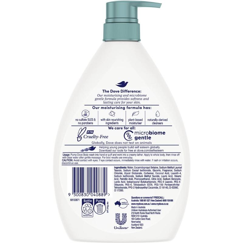 Sữa tắm Dove Go Fresh Body Wash Pear & Aloe Vera 1l