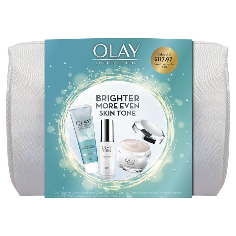 Olay Regenerist Luminous 3 Step Regimen Cosmetic Bag Gift Set