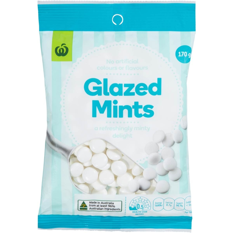 Woolworths Glazed Mints 170g