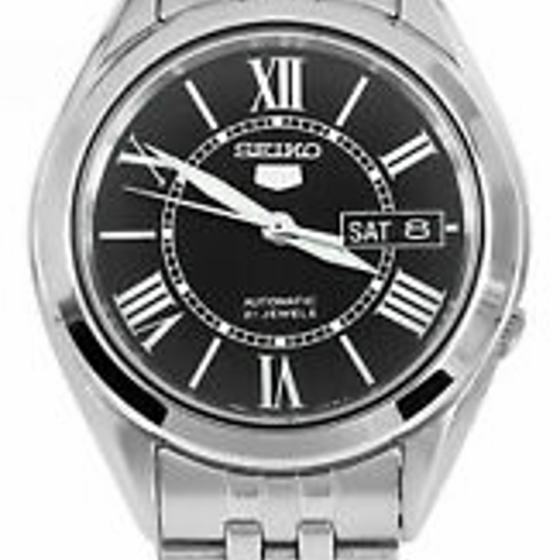 Seiko 5 Automatic SNKL35 SNKL35K1 Men Day Date Black Dial Stainless Steel Watch