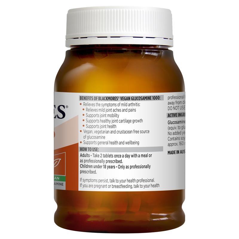 Viên uống bổ khớp Blackmores Vegan Glucosamine 1000 200 Tablets