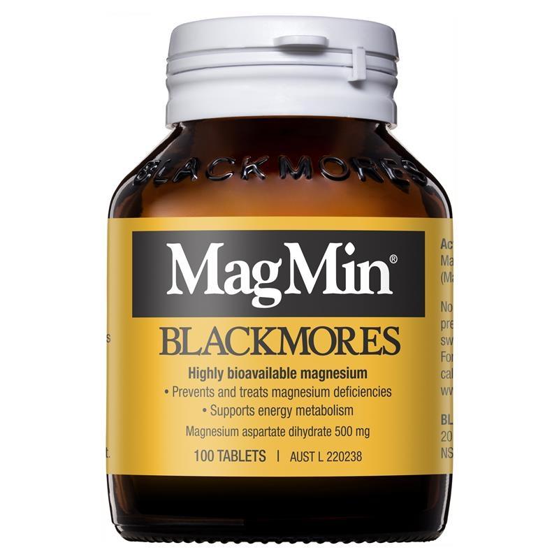 Viên uống bổ sung magie Blackmores Magmin 500mg 100 Tablets