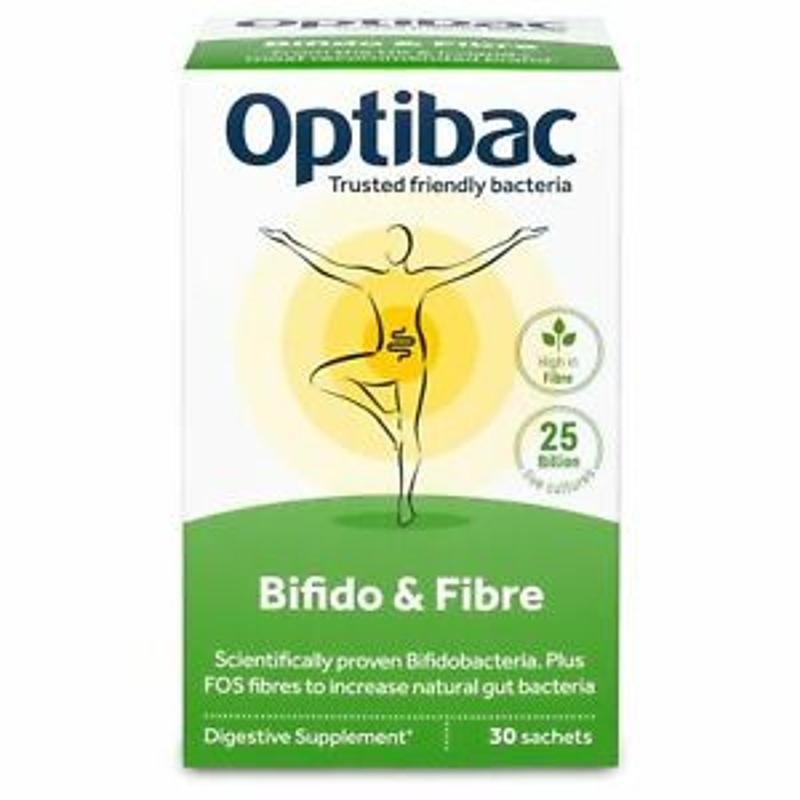 Optibac Probiotics Bifidobacteria & Fibre - 30 Sachets x 6g