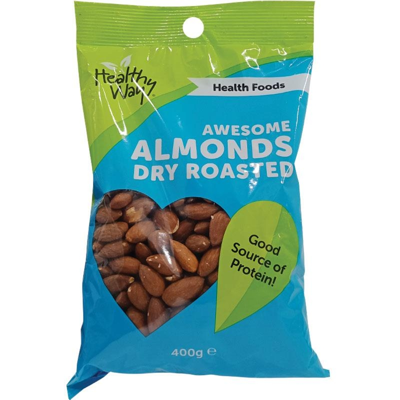 Healthy Way Awesome Almonds Dry Roasted 400g