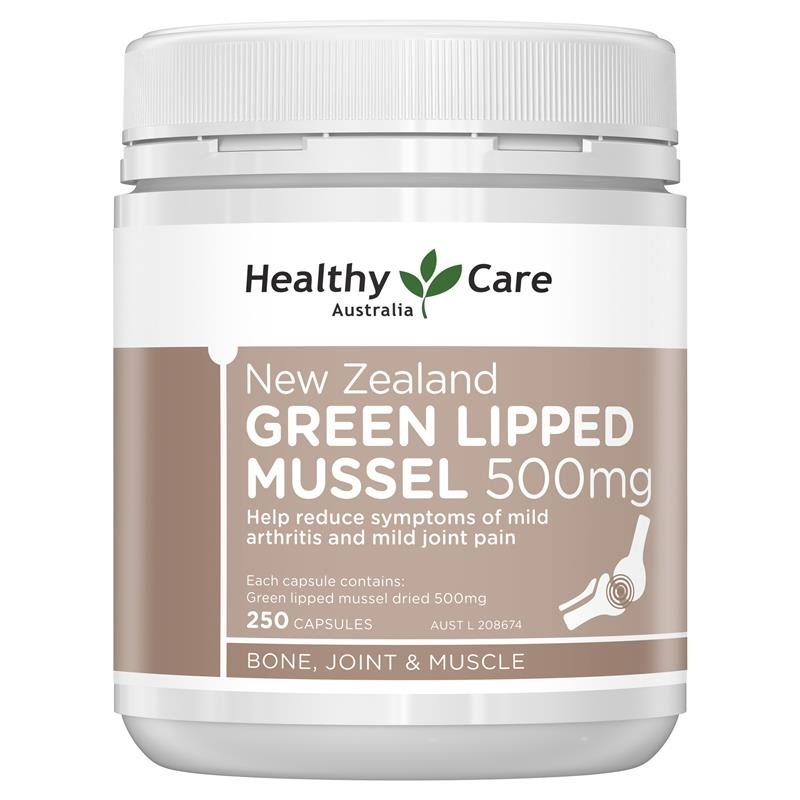 Healthy Care New Zealand Green Lipped Mussel 250 Capsules
