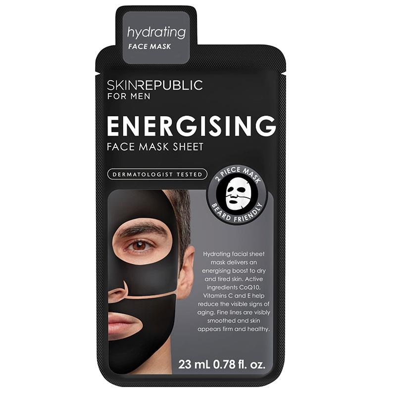 Skin Republic Mens Energising Face Mask Sheet