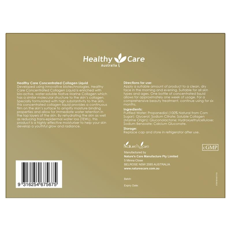 Healthy Care Concentrated Collagen Liquid 10ml 6 Pack