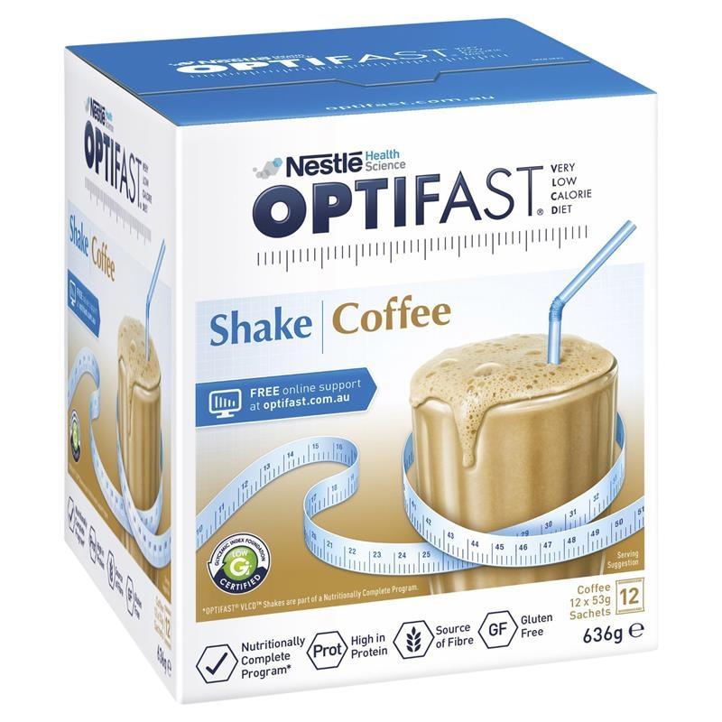 Cafe lắc giảm cân - Optifast VLCD Shake Coffee 12 x 53g