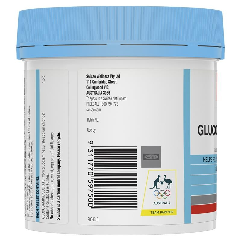 Swisse Glucosamine Sulfate 1500mg 180 Tablets