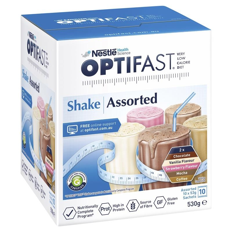 Optifast VLCD Shake Assorted Pack 10 x 53g