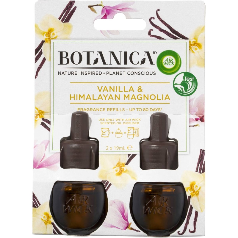 Air Wick Botanica Vanilla & Himalayan Magnolia Refills 19ml x2 pack