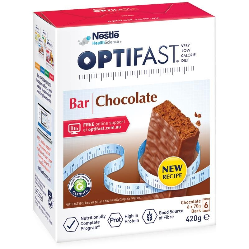 Sô cô la thanh hỗ trợ giảm cân - Optifast VLCD Bar Chocolate 6x70g